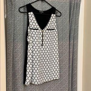 Express sleeveless zip front shirt